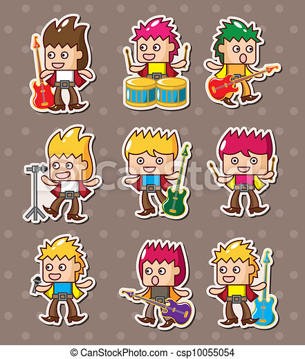 rock band stickers - csp10055054