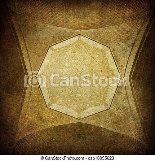 Dome of the mosque, oriental ornaments from Isfahan, Iran - csp10055623