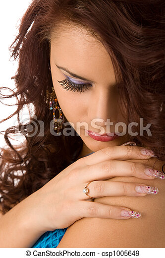 long eyelashes - csp1005649