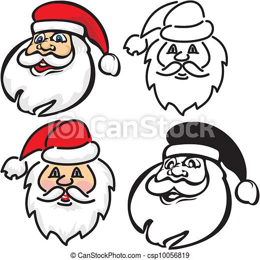 Faces Vector Art Vector Santa Claus Face