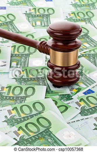 € money and gavel - csp10057368