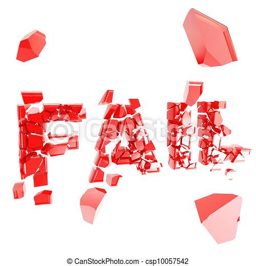 Broken fail metaphor, smashed word explosion - csp10057542