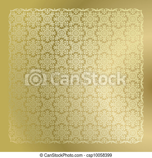 Seamless golden damask wallpaper   - csp10058399