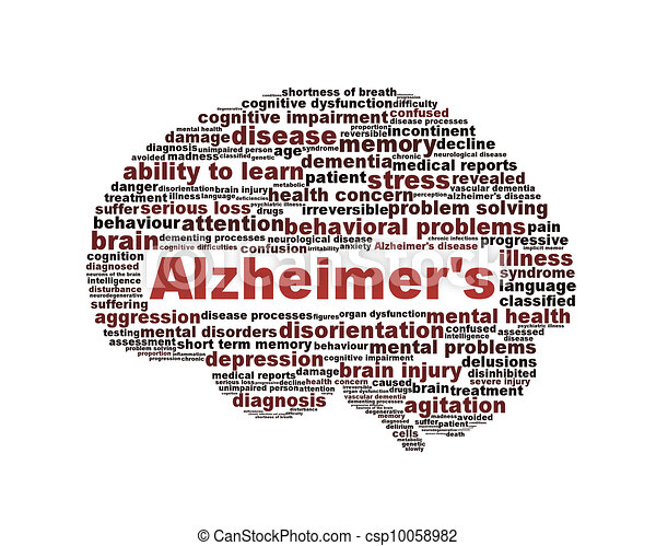 Alzheimer's disease symbol isolated on white - csp10058982