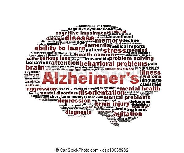 Alzheimer's disease symbol isolated on white  - csp10058982