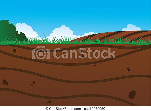Clipart vectorial de debajo suelo an ilustraci n de for Boden cartoon