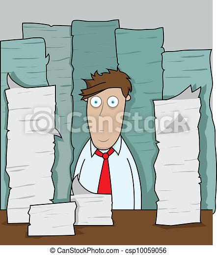 Office Overload - csp10059056