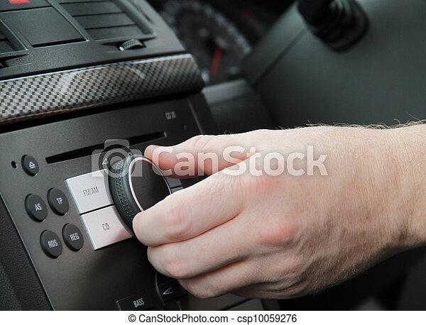 car radio-adjusting volume - csp10059276