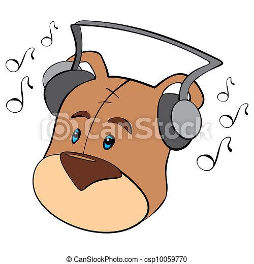 Teddy is listening - csp10059770