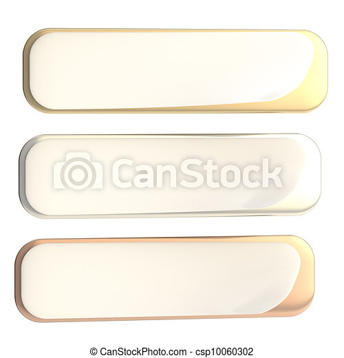 Bend corner banner, set of gold, silver and bronze - csp10060302