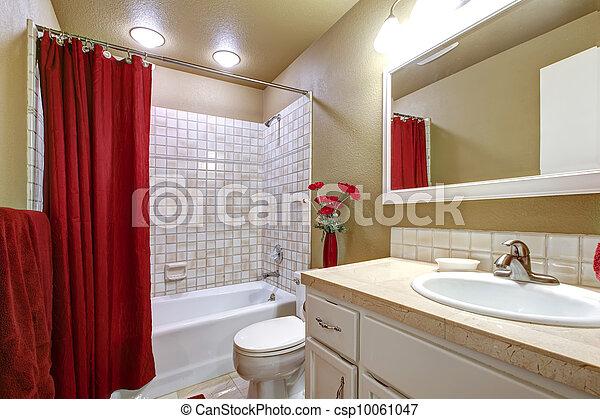 Cuarto De Baño Rojo: Gris y cuarto de baño rojo el diseno. Detalle ...