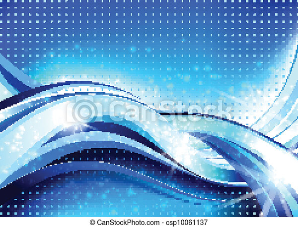Abstract Wave Flow Composition - csp10061137