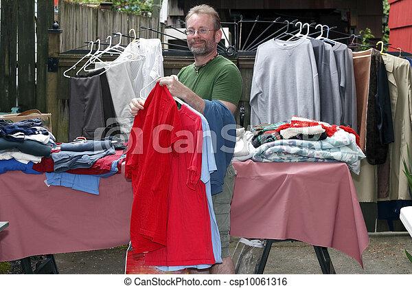 Man at a Tag Sale - csp10061316