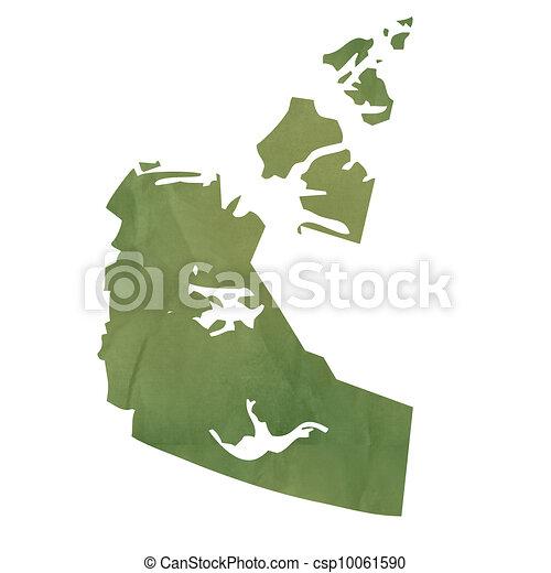 西北, 领土, 地图, 绿色