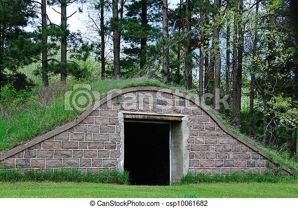 Abandoned Root Cellar - csp10061682