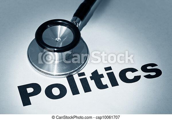 política, estetoscopio - csp10061707