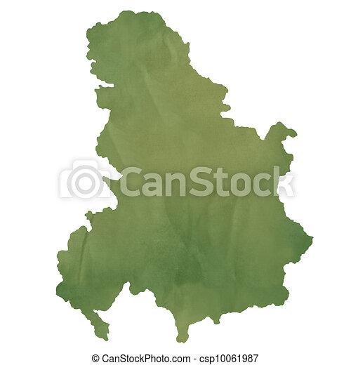 地图, 老, 绿色