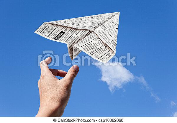 报纸, 飞机 - csp10062068