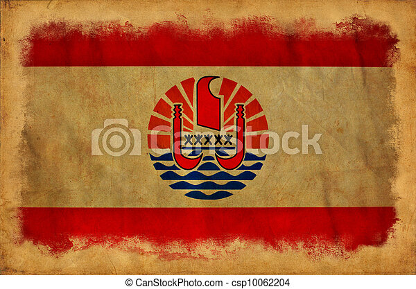 French Polynesia grunge flag - csp10062204