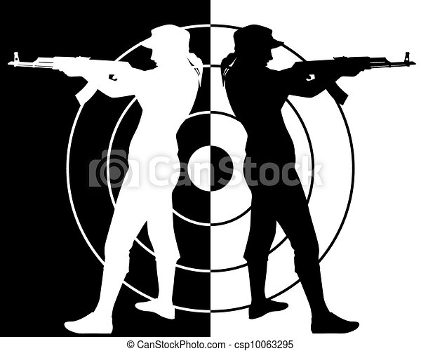 Kalashnikov assault rifle shooter - csp10063295