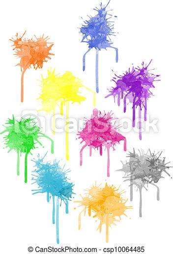 Vector color paint splat - csp10064485