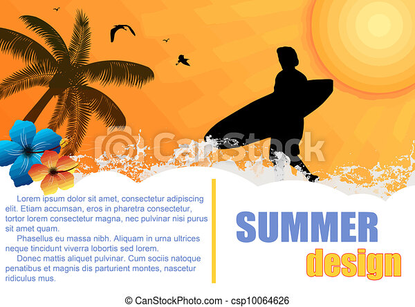 Summer holiday background - csp10064626