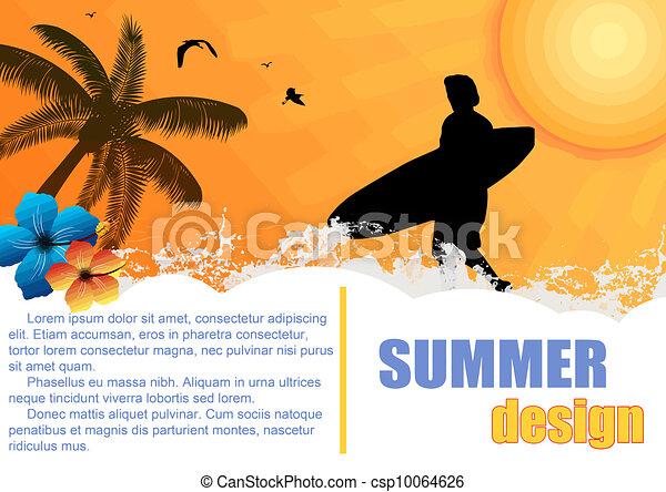 Summer holiday background - csp10064626