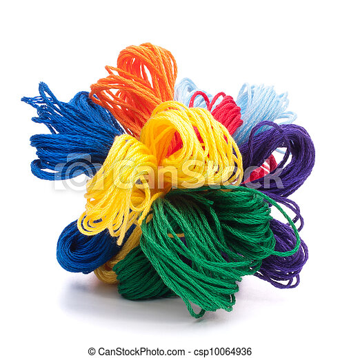 Color threads bunch  - csp10064936