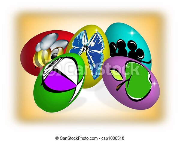 Easter eggs - csp1006518