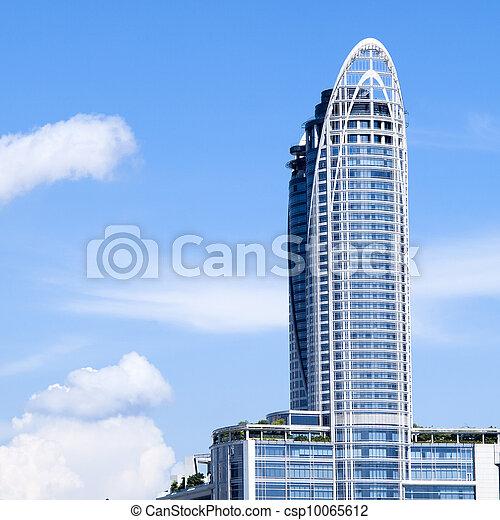 Highrise modern building in Bangkok, Thailand. - csp10065612