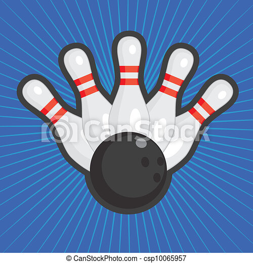 Bowling background. - csp10065957