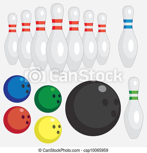 Set of bowling tools. - csp10065959