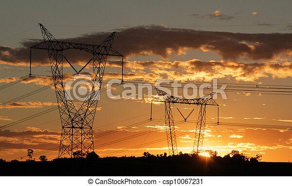 Eletricity tower providing energy distribution - csp10067231