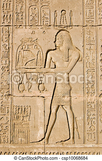 Ancient Egyptian priest for Ra and - csp10068684