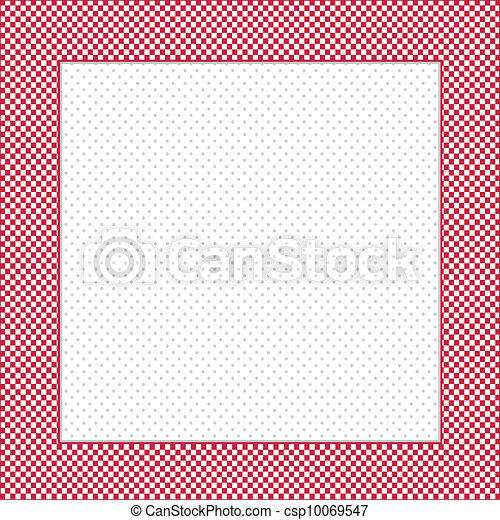 Check Frame, Polka dot Background - csp10069547