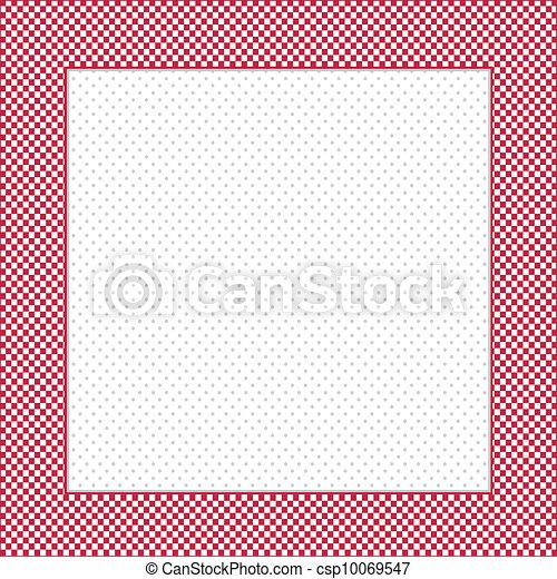 Check Frame, Polka dot Background - csp10069547