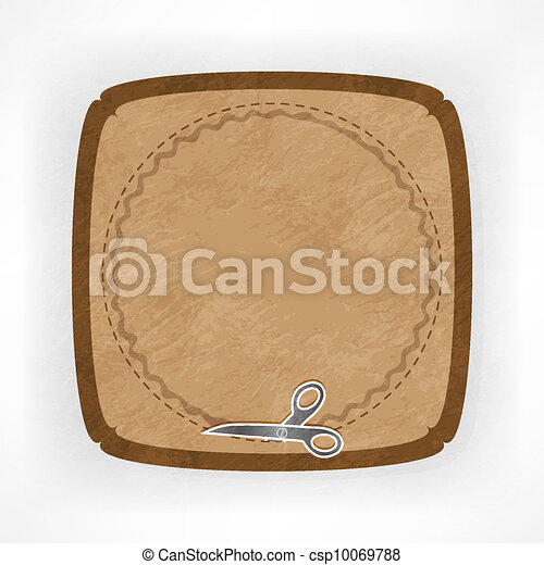 vector scissors cutting sticker - csp10069788
