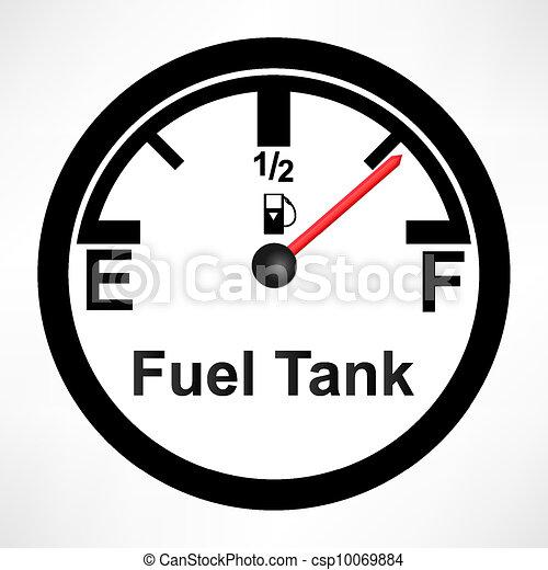White Gas Tank Illustration - csp10069884