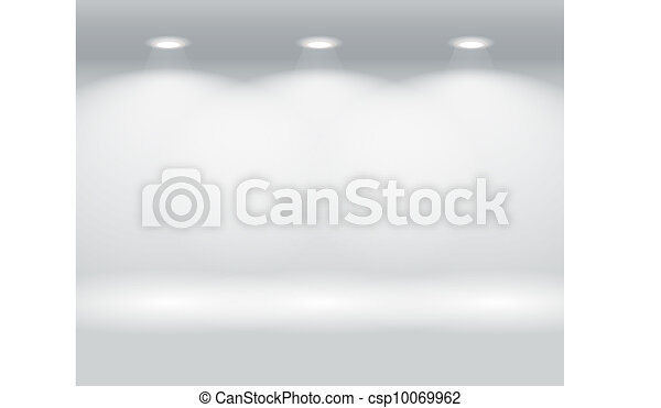 Illuminated wall of colorful panels - csp10069962