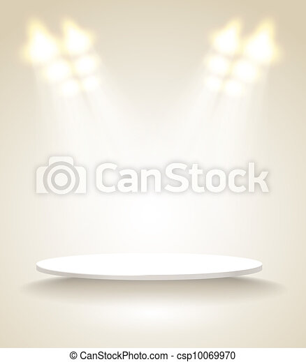 Bright stage with spot lights - csp10069970