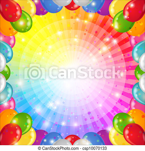 Holiday background with balloons - csp10070133