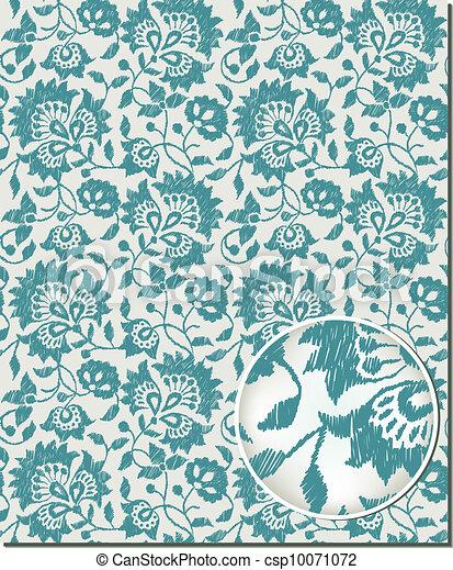 Floral seamless pattern - csp10071072