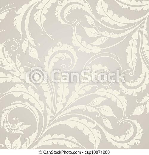 Decorative floral background - csp10071280