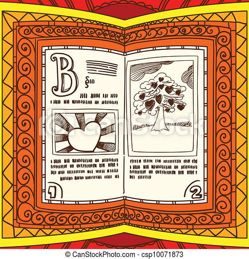 Graceful ornamented book - csp10071873