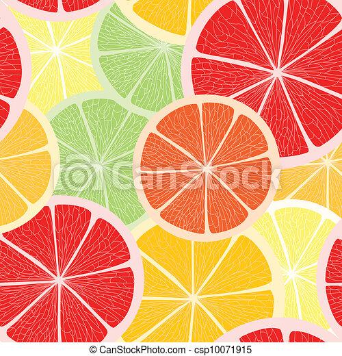 Citrus seamless background - csp10071915