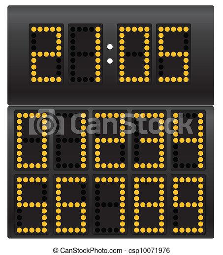 Digital clock - csp10071976