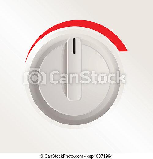 Plastic knob of a cooker - csp10071994