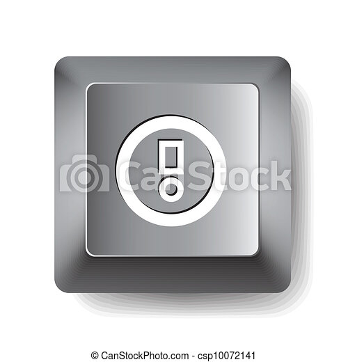 Computer key. Notice - csp10072141
