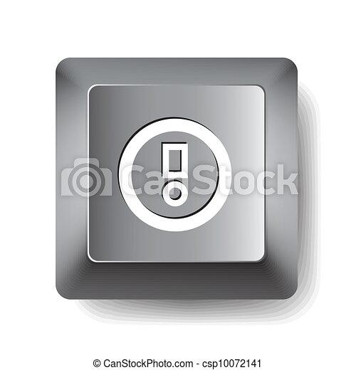 Computer key. Notice - csp10072141