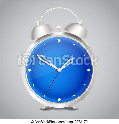 Steel modern vector alarm clock - csp10072172